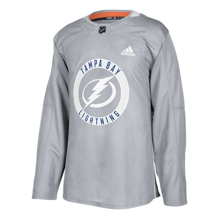Authentic Tampa Bay Lightning GREY Practice Jersey