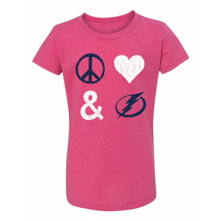 Youth Tampa Bay Lightning Peace Love Tee
