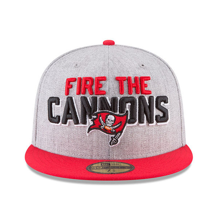 e3dfd0d0 Men's Tampa Bay Buccaneers New Era Fire The Cannons On-Stage 59FIFTY Fitted  Hat