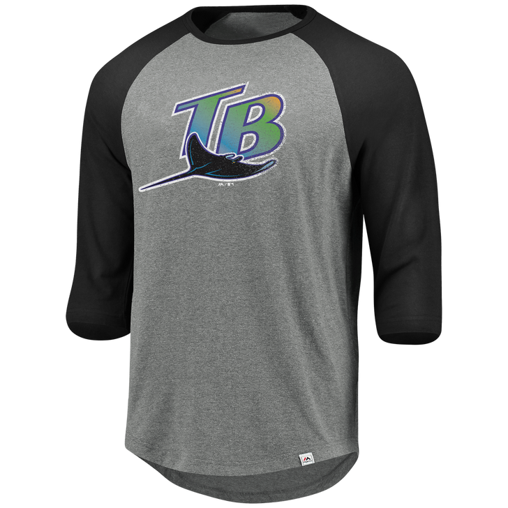 Men's Tampa Bay Rays Majestic Special Invitation Raglan Tee (XL ONLY)