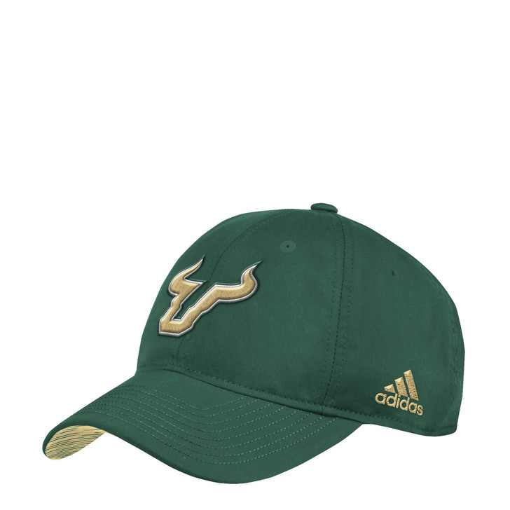 Men's USF Bulls adidas Adjustable Green Slouch Hat