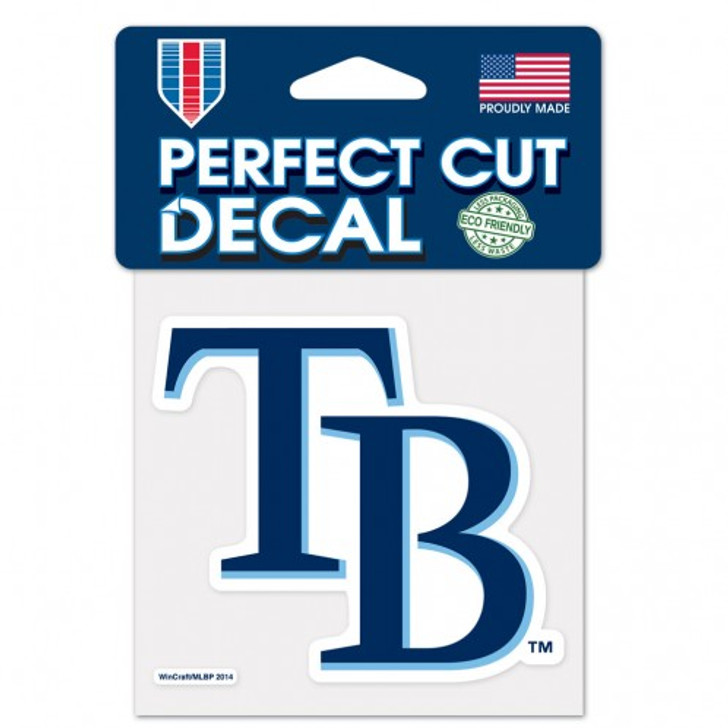 "Tampa Bay Rays 4x4"" Perfect Cut Color Decal"