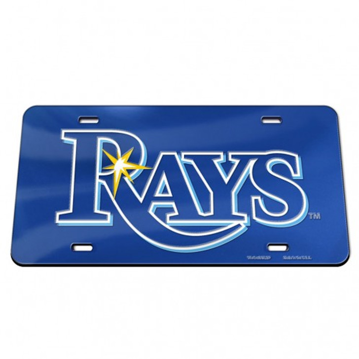 Tampa Bay Rays WinCraft Crystal Mirror Word-mark License Plate