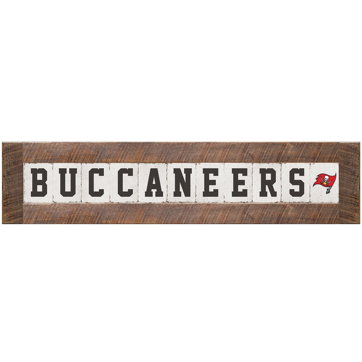 Tampa Bay Buccaneers Rustic Marlin White Classic Sign
