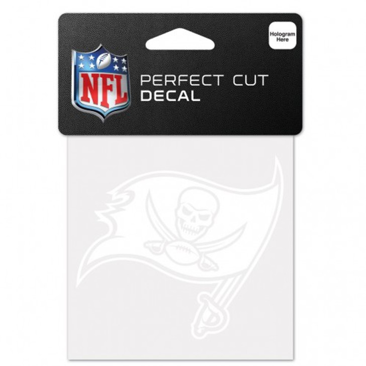 """Tampa Bay Buccaneers 4x4"""" Perfect Cut White Decal"""