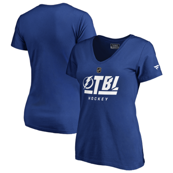 Women's Tampa Bay Lightning Authentic Pro Tricode Tee