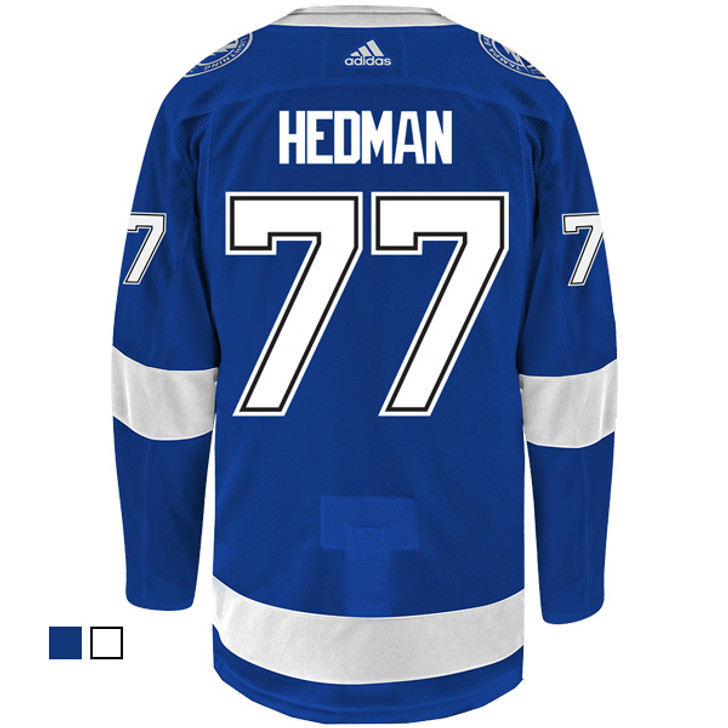 #77 VICTOR HEDMAN adidas ADIZERO Lightning Jersey with Authentic Lettering