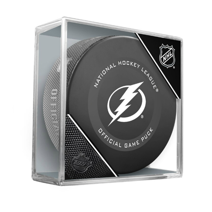 Tampa Bay Lightning Official Game Puck in Cube
