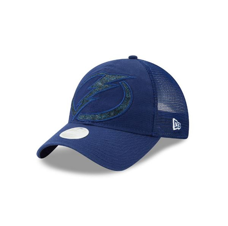 Women's Tampa Bay Lightning New Era Shined Up Trucker Hat