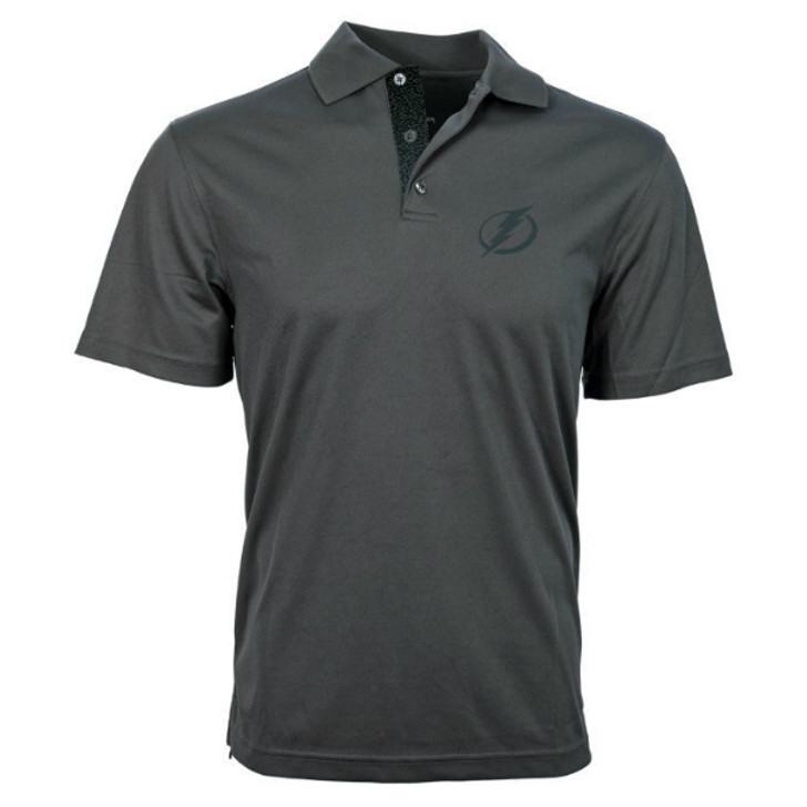 Men's Tampa Bay Lightning Third Jersey Charcoal Omaha Polo