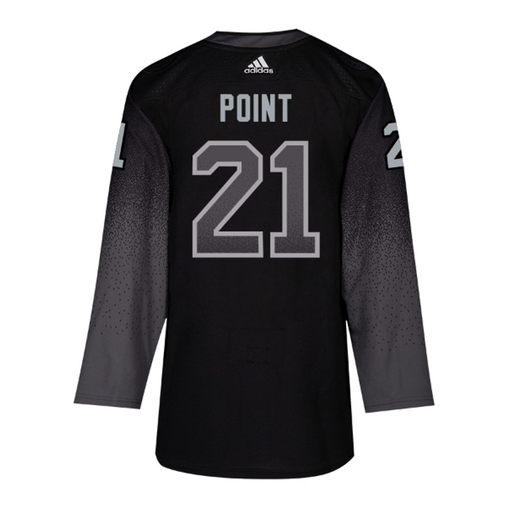 #21 BRAYDEN POINT adidas ADIZERO Lightning Third Jersey with Authentic Lettering