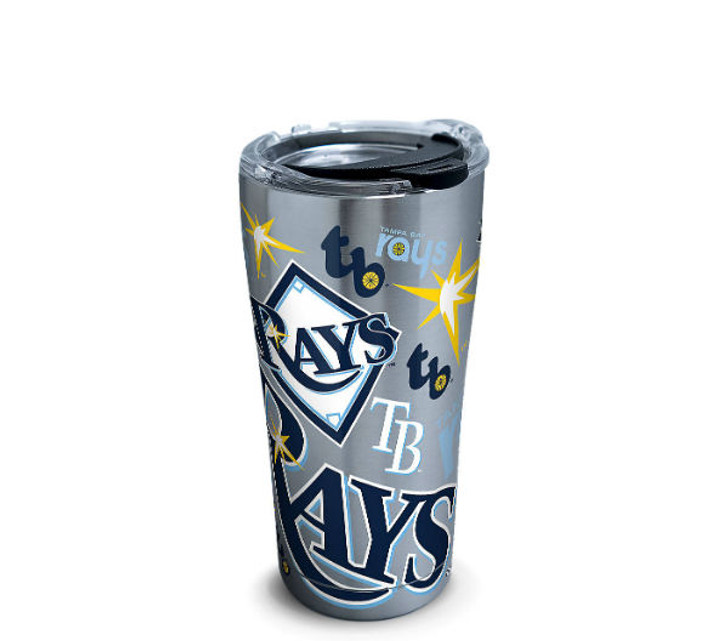 Tampa Bay Rays 20oz Stainless Steel All Over Tervis Tumbler