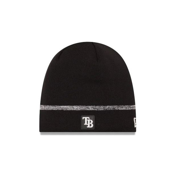 Men's Tampa Bay Rays New Era Clubhouse Black Knit