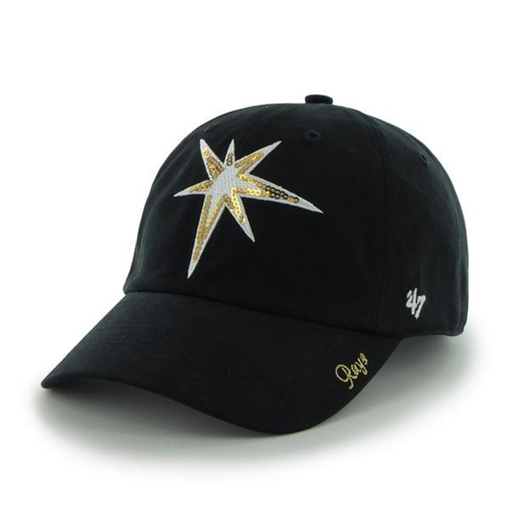 Women's Tampa Bay Rays '47 Sparkle Burst Logo Clean Up Hat