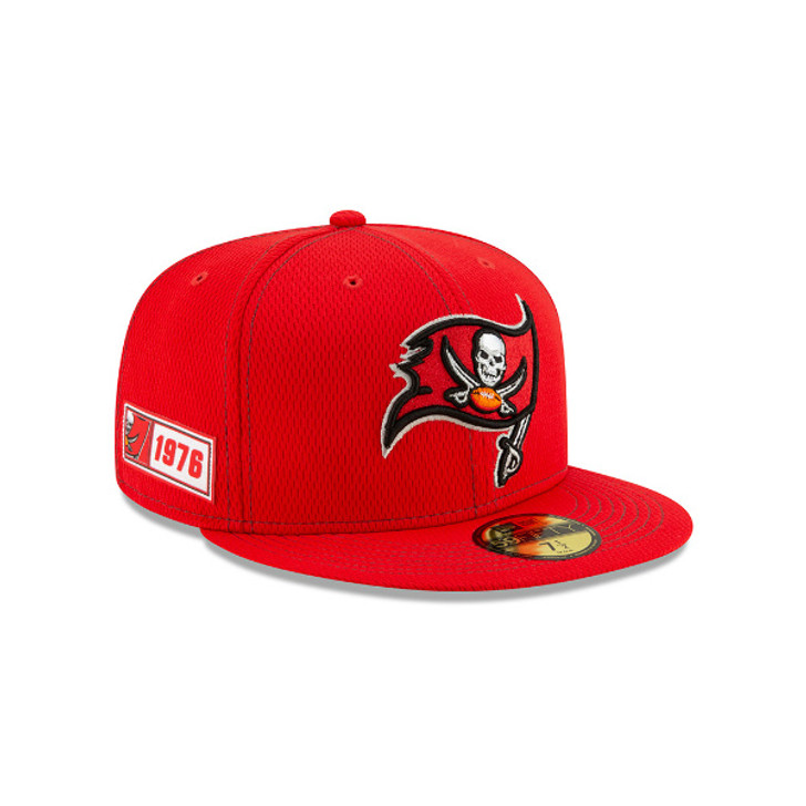 Men's Tampa Bay Buccaneers 2019 NFL Official On-Field Sideline Road 59Fifty Hat