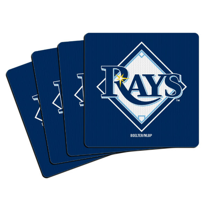 Tampa Bay Rays 4-Pack Neo Coaster Set