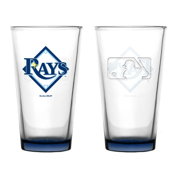Tampa Bay Rays 16oz Embossed Pint Glass