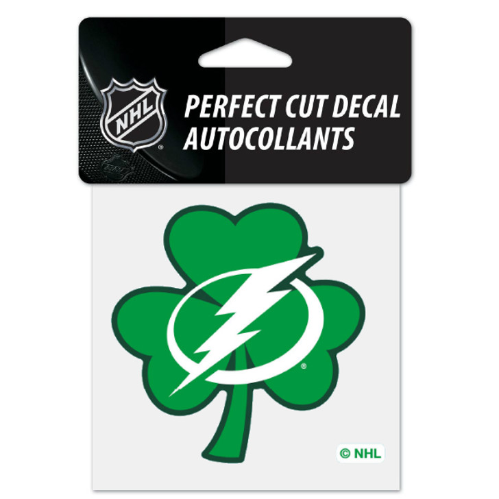 "Tampa Bay Lightning St. Patrick's 4x4"" Decal"