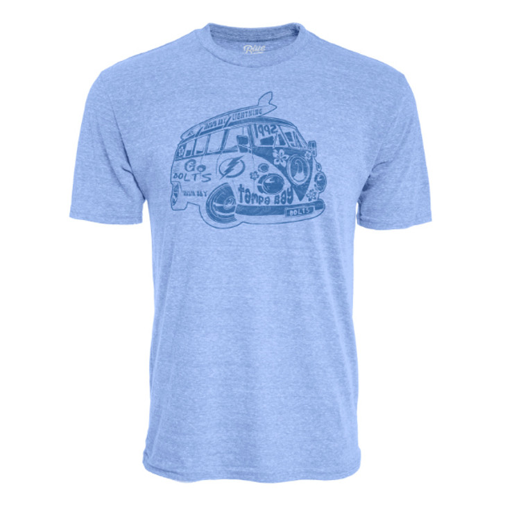 Men's Tampa Bay Lightning Band Wagon Tri-Blend Tee