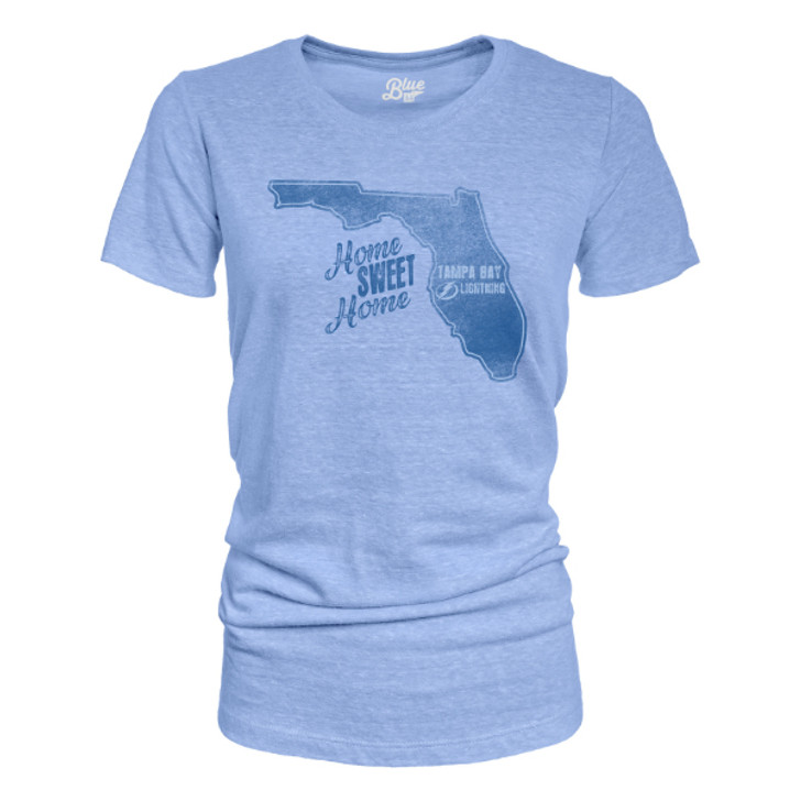 Women's Tampa Bay Lightning Home Sweet Home Tri-Blend Tee