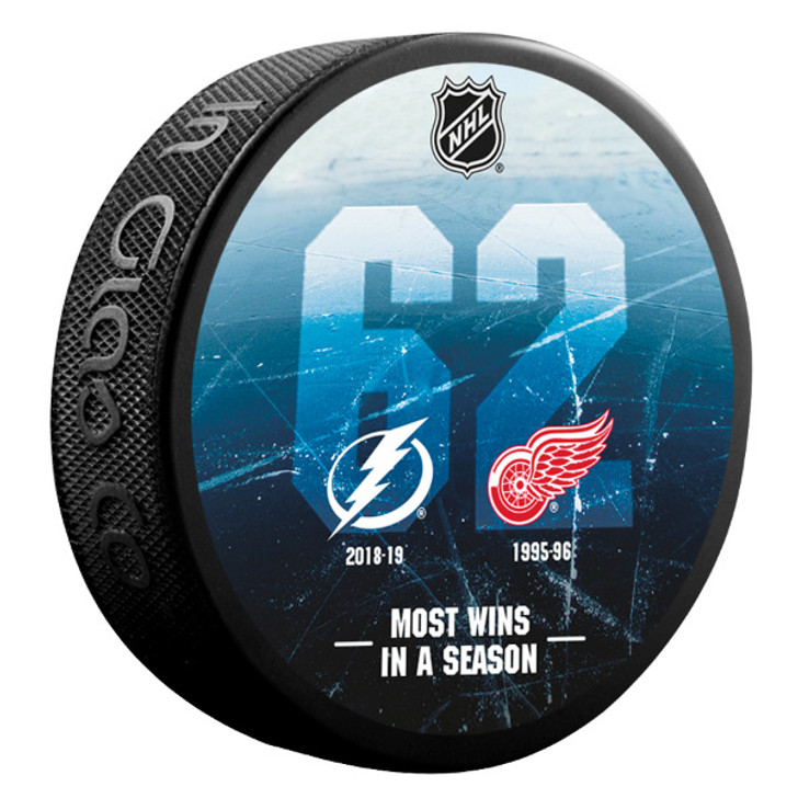 Tampa Bay Lightning 62 Wins Record Collector's Puck