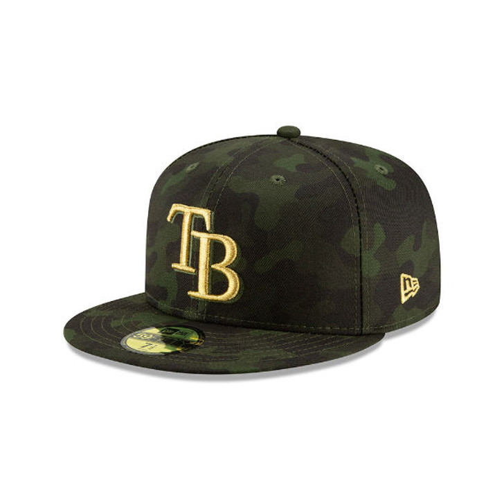size 40 b0c73 52c40 Men s Tampa Bay Rays New Era 2019 MLB Armed Forces Day On-Field Low Profile  59FIFTY Fitted Hat. New Era