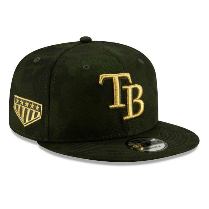 1a7b9289 Men's Tampa Bay Rays New Era 2019 MLB Armed Forces Day 9FIFTY Snap Back Hat