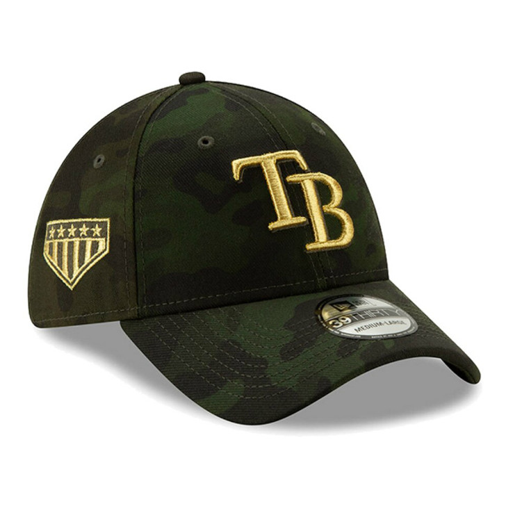 Men's Tampa Bay Rays New Era 2019 MLB Armed Forces Day 39THIRTY Flex Hat