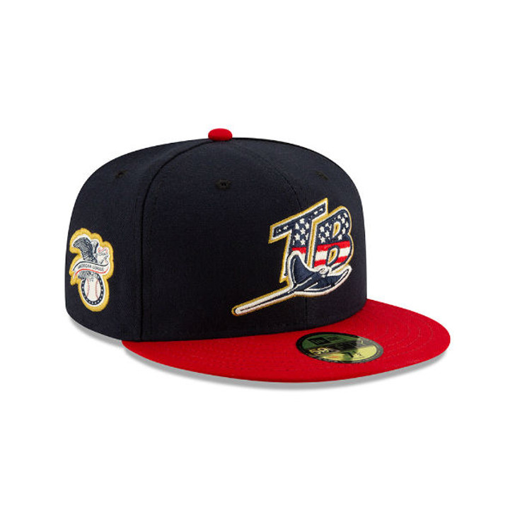 61bf61b71 Men's Tampa Bay Rays New Era 2019 Stars & Stripes 4th of July On-Field  Fitted 59Fifty Hat