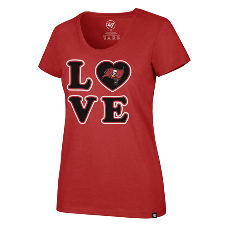 Women's Tampa Bay Buccaneers '47 Love Club Scoop Tee