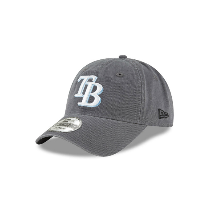 Tampa Bay Rays New Era Charcoal Core Fit 49FORTY Fitted Hat