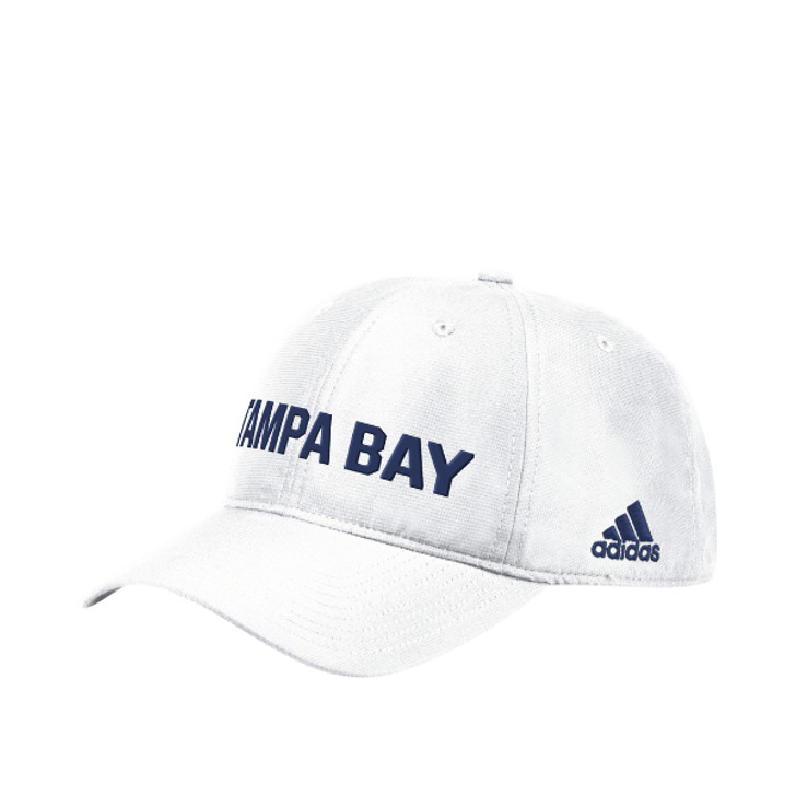 Men's Tampa Bay Lightning adidas City First White Adjustable Slouch Hat