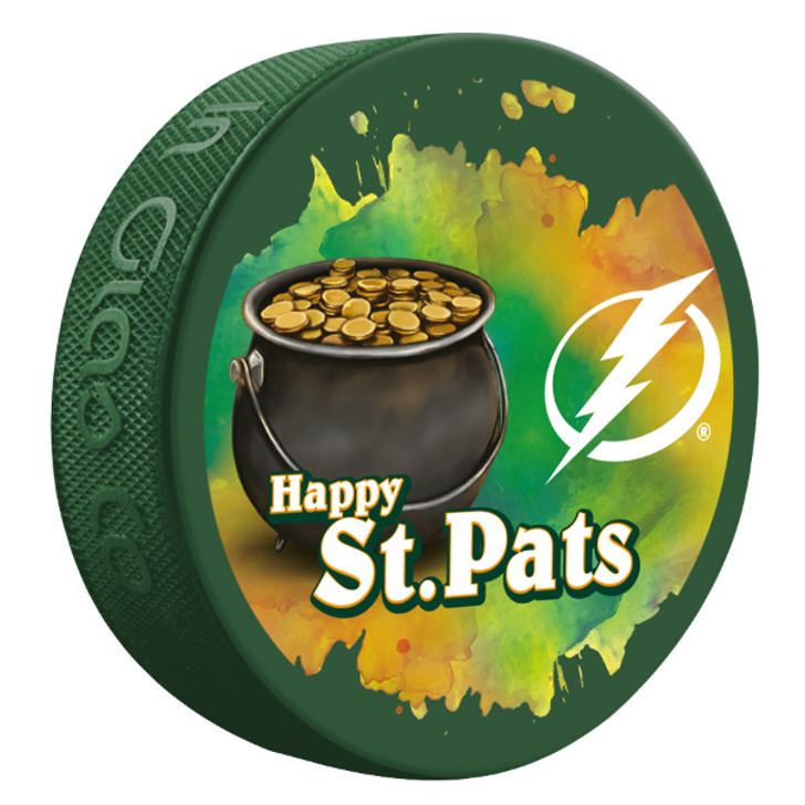 Tampa Bay Lightning Limited Edition St. Patrick's Day 2020 Puck