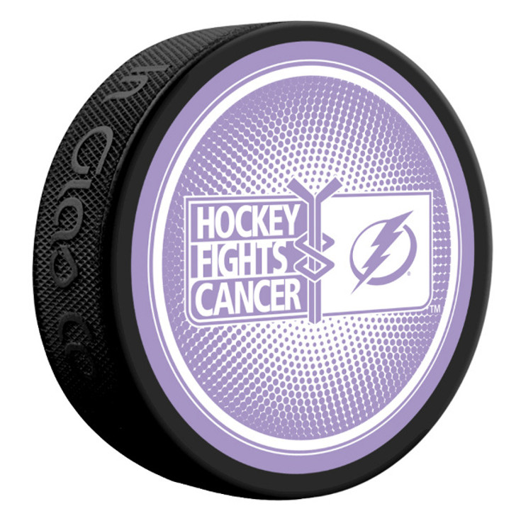 Tampa Bay Lightning Hockey Fights Cancer Special Edition Puck
