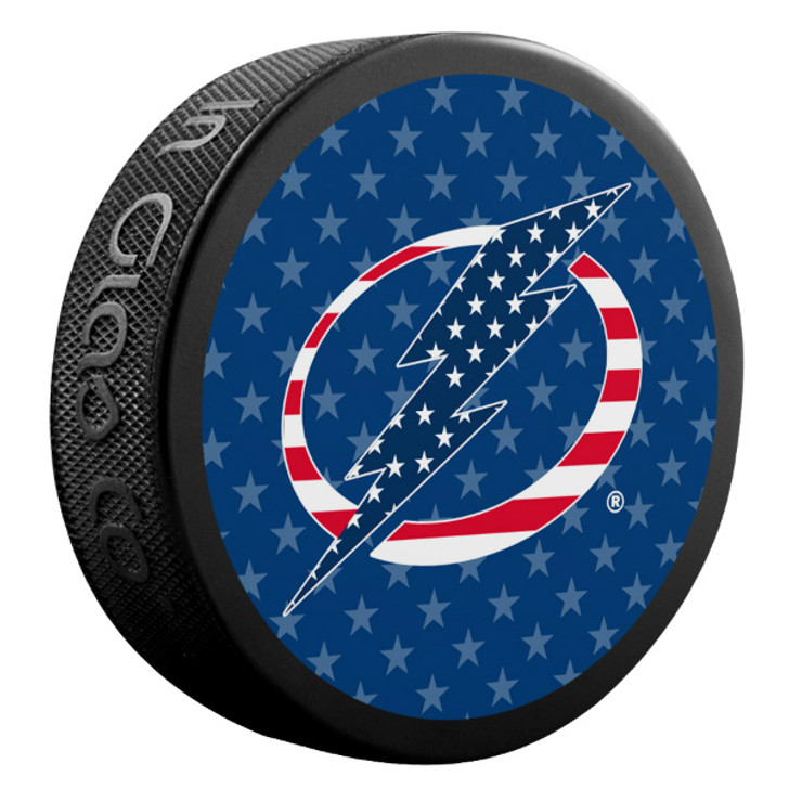 Tampa Bay Lightning American Flag Logo Limited Edition Puck
