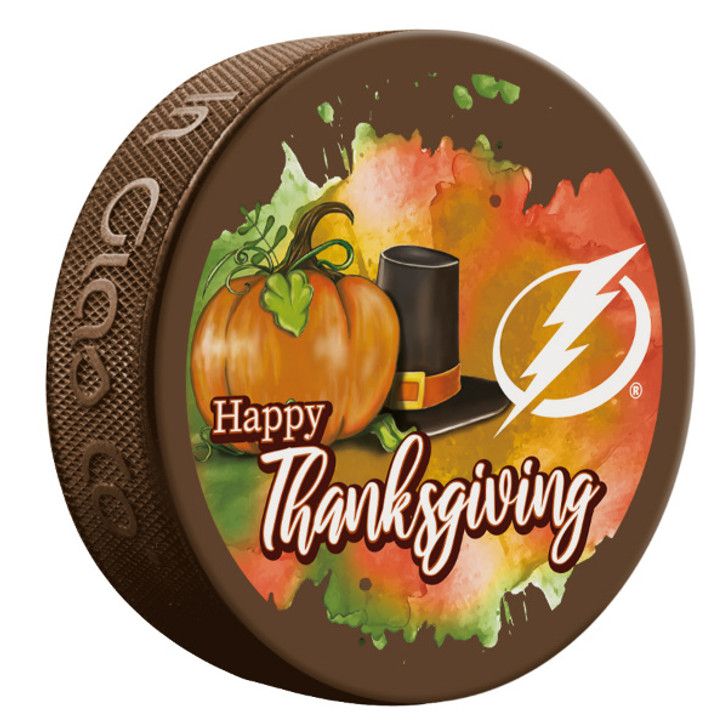 Tampa Bay Lightning Happy Thanksgiving Limited Edition Puck