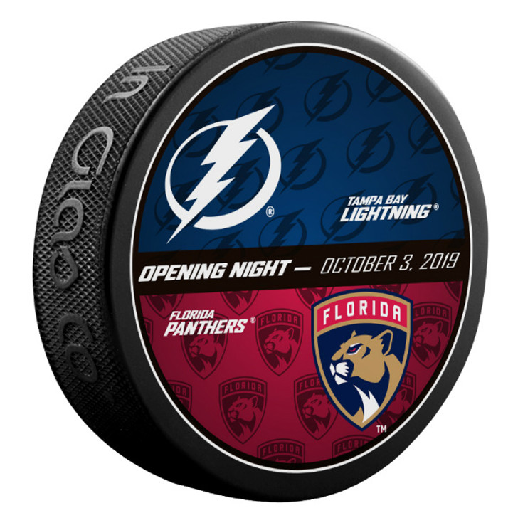 Tampa Bay Lightning Limited Edition 2019-20 Opening Night Puck