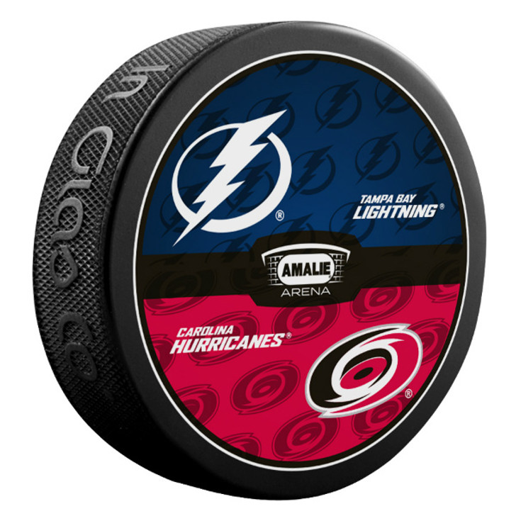 Tampa Bay Lightning vs. Carolina Hurricanes Match-up Puck
