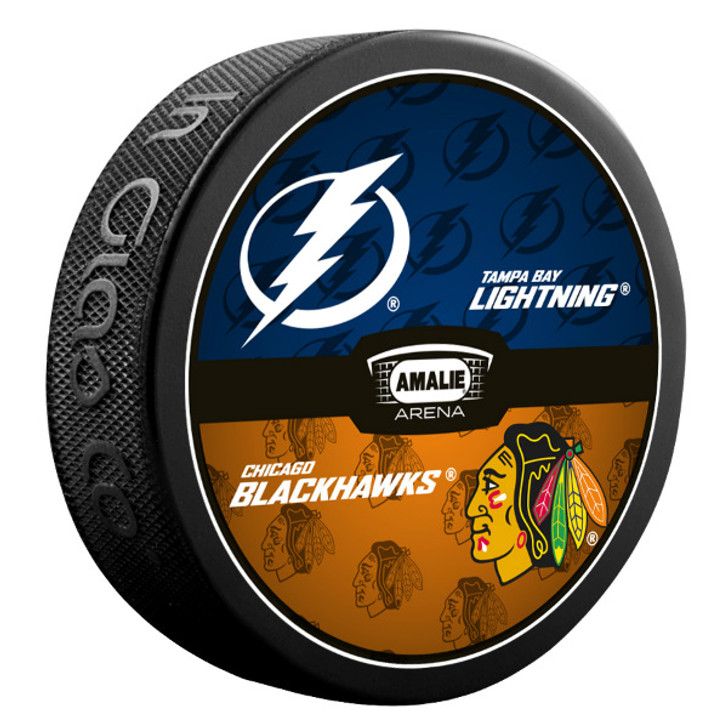 Tampa Bay Lightning vs. Chicago Blackhawks Match-up Puck