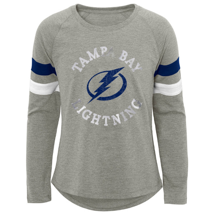 Youth Girl's Tampa Bay Lightning Everyday Tri-Blend Long Sleeve