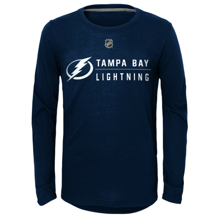 Child (4-7) Tampa Bay Lightning Deliver A Hit Long Sleeve Tee