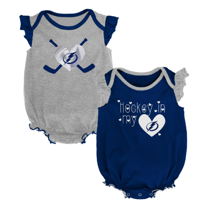 Infant Girl's Tampa Bay Lightning Team 2-Piece Creeper Set