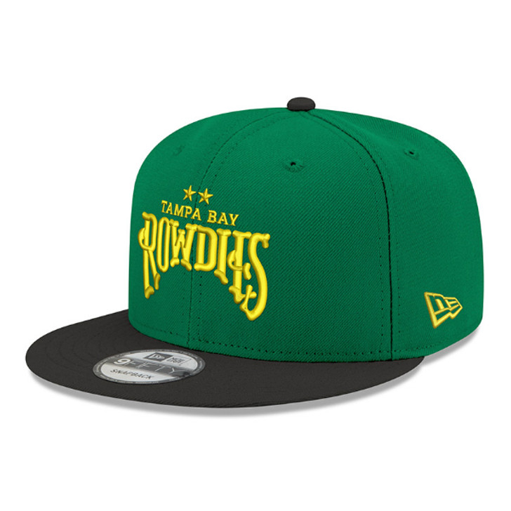 Tampa Bay Rowdies New Era Two-Tone Green/Black 9FIFTY Snapback Hat