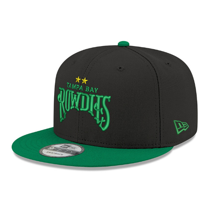 Tampa Bay Rowdies New Era Two-Tone Black/Green 9FIFTY Snapback Hat