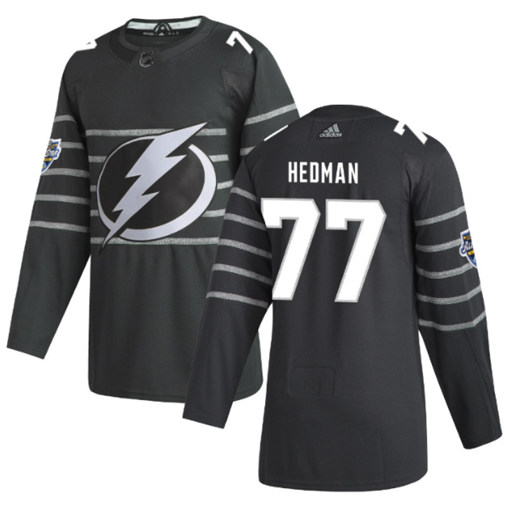 Victor Hedman #77 adidas Gray 2020 NHL All-Star Game Lightning Authentic Jersey