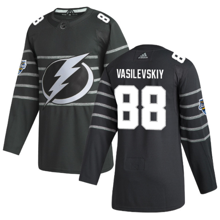 Andrei Vasilevskiy #88 adidas Gray 2020 NHL All-Star Game Lightning Authentic Jersey