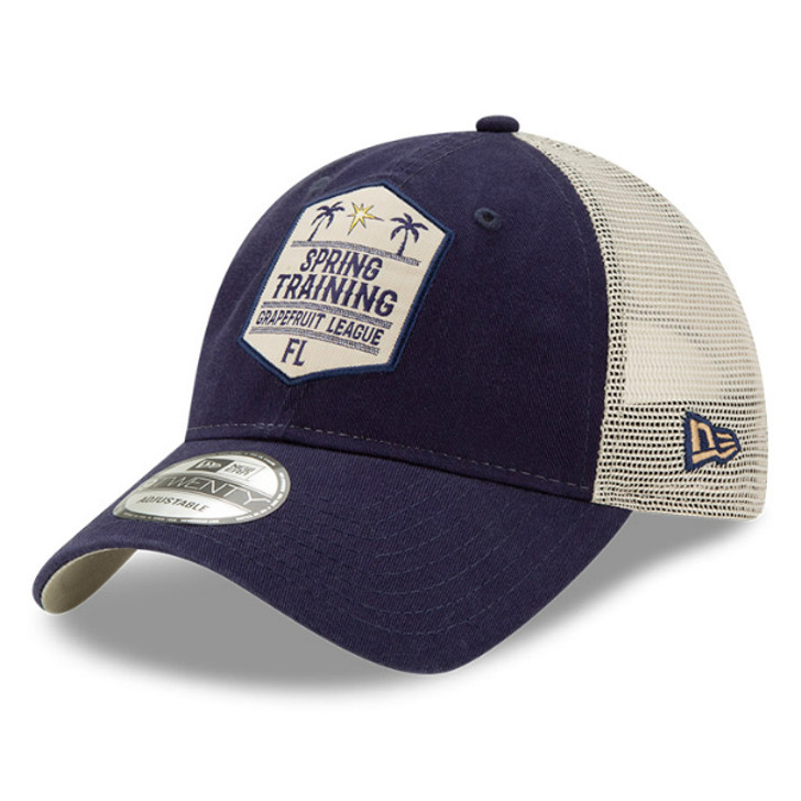 Tampa Bay Rays Spring Training New Era 9Twenty Adjustable Meshback Trucker Hat