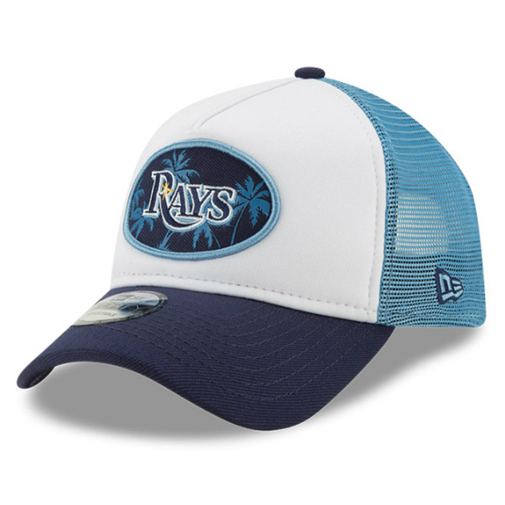 Tampa Bay Rays New Era 9FORTY A-Frame Mesh Trucker Adjustable Snapback Hat
