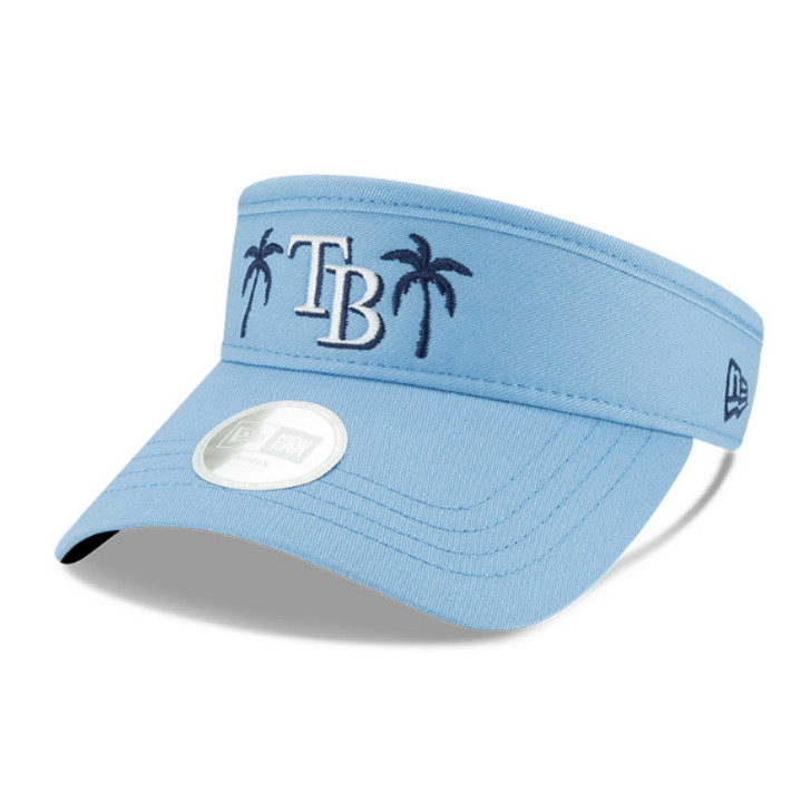 Women's Tampa Bay Rays New Era Light Blue Palm Tree Visor