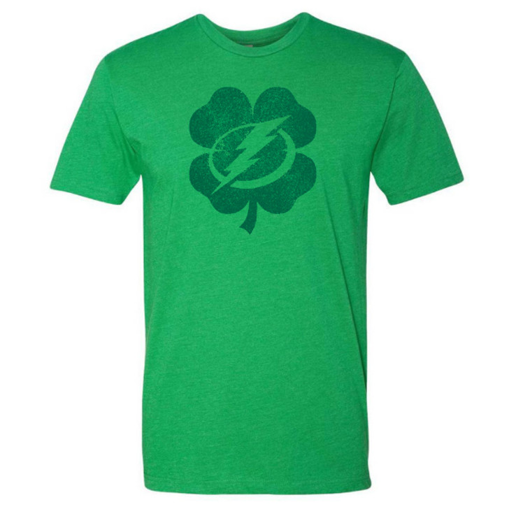 Men's Tampa Bay Lightning St. Patrick's Day Shamrock Logo T-shirt